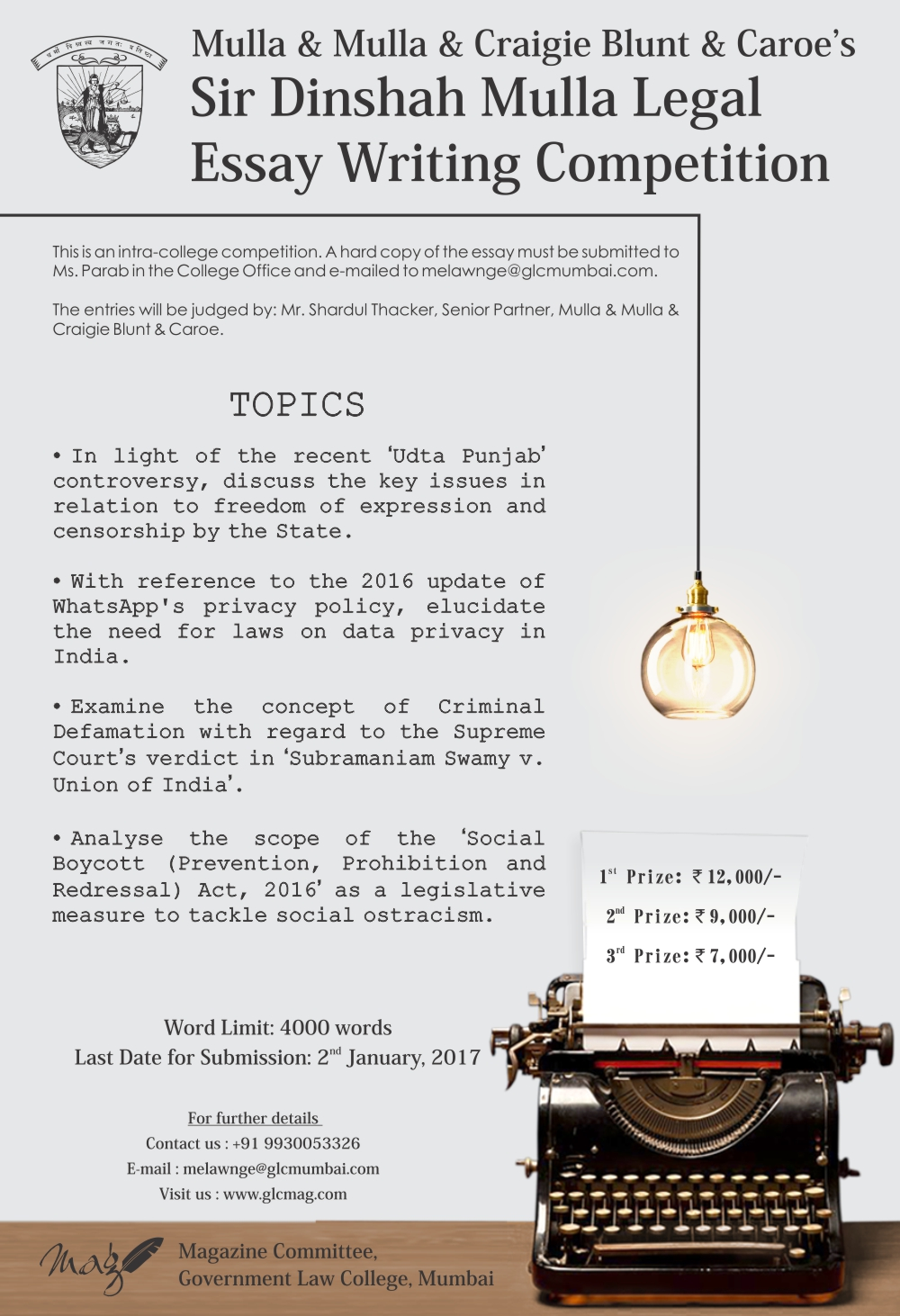 legal essay writing competitions india The 2018 essay prize competition visit the 2018 essay prize competition school of planning and architecture, bhopal, india read essay.